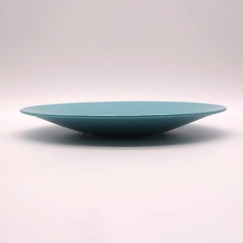 美濃焼 カラーシリーズ 大皿 ターコイズブルー 22cm【はさみの大吉オリジナル】