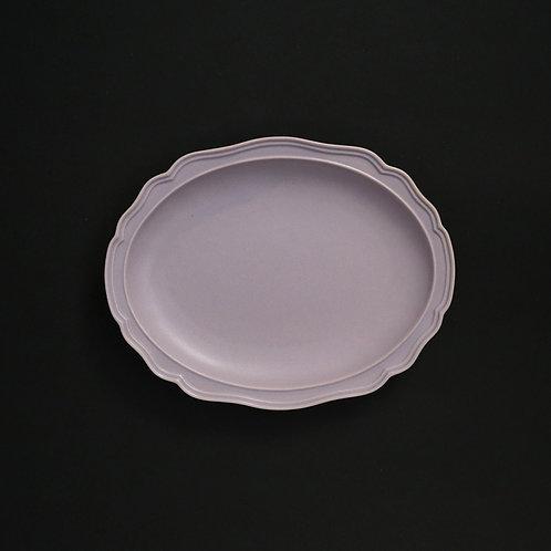 フレア グラデーションパープルPR リム皿 美濃焼 おしゃれ 食器 取り皿 小【saraieオリジナル】