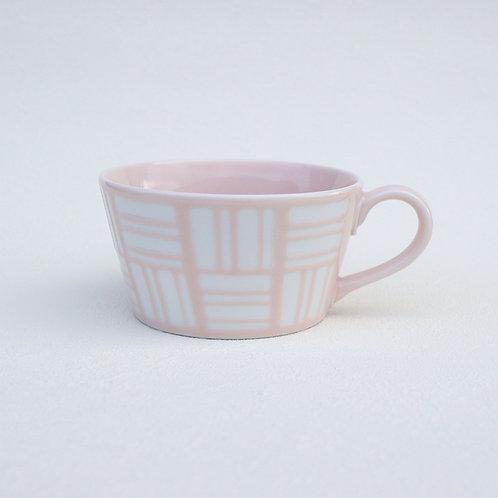 美濃焼 パステラ スープカップ パステルカラー ピンク【はさみの大吉オリジナル】