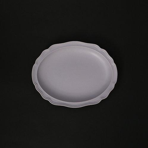フレア グラデーションパープルPB リム皿 美濃焼 おしゃれ 食器 取り皿 小【saraieオリジナル】