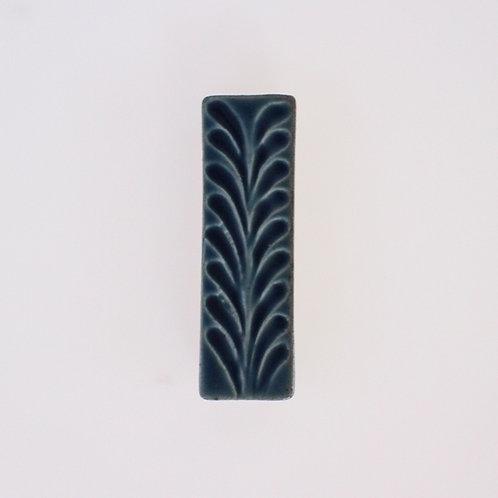 波佐見焼 箸置き 小物 リーフ シンプル デニム ブルー