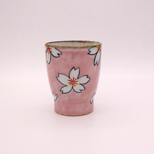 波佐見焼 コップ 湯呑み 上絵桜 ピンク