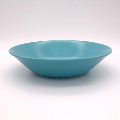 美濃焼 カラーシリーズ 深皿 ボール 大鉢 ターコイズブルー 22cm【はさみの大吉オリジナル】
