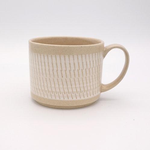 波佐見焼  飛び鉋 色カンナ マグカップ 白 ホワイト