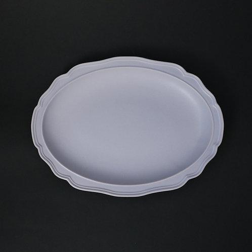 フレア グラデーションパープルPB リム皿 美濃焼 おしゃれ 食器 ワンプレート 美濃焼【saraieオリジナル】