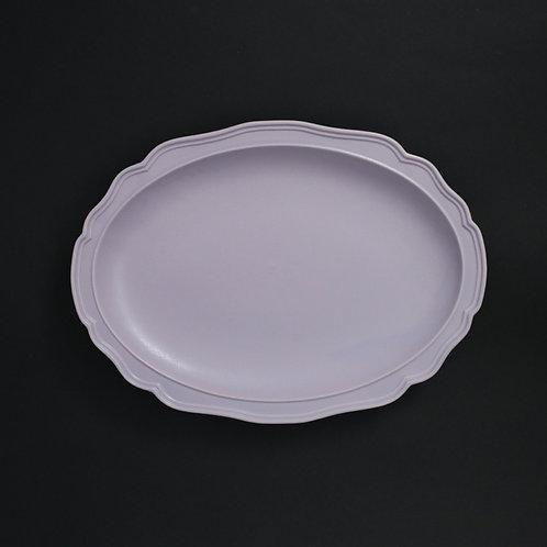 フレア グラデーションパープルPR リム皿 美濃焼 おしゃれ 食器 ワンプレート 美濃焼【saraieオリジナル】
