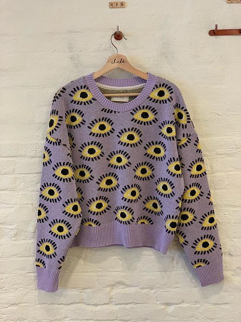 ESZKA- jumper eyez lilac