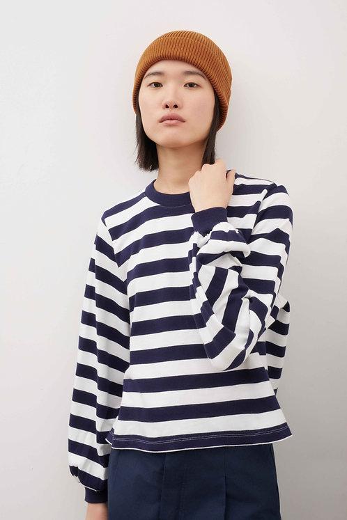 KOWTOW - Gather sleeve top stripe