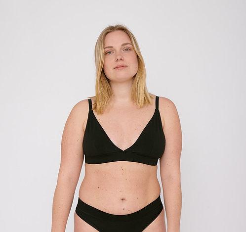 ORGANIC BASICS - organic cotton triangle bra black