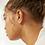 Thumbnail: WILD FAWN - mini organic point earrings silver