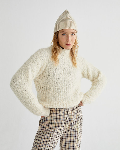 THINKING MU - Cotys sweater white