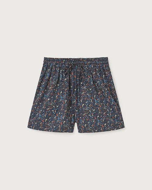THINKING MU - Geranio shorts multi flower