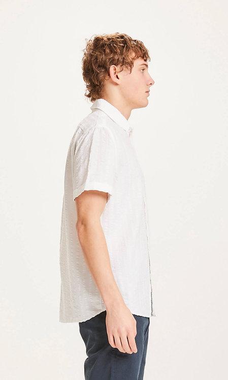 KCA - Larch SS seersucker shirt bright white