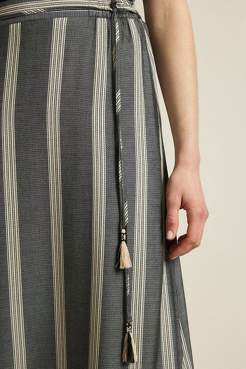 LANIUS - maxi skirt striped onyx