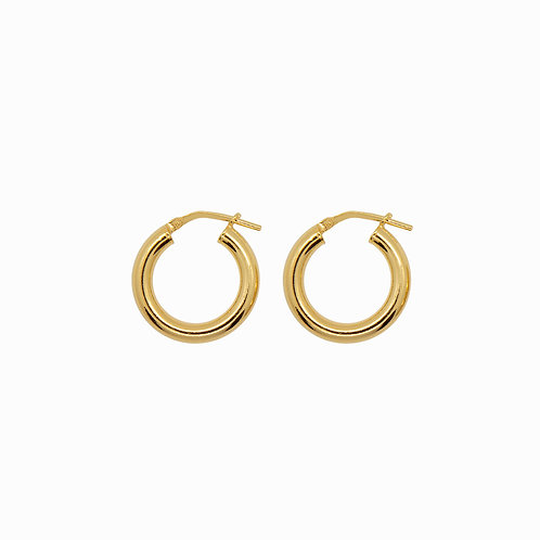 SISTER - chunky hoops small gold
