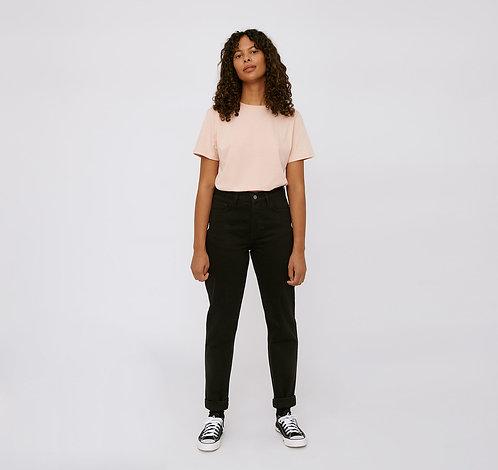 ORGANIC BASICS - circular denim 5 pocket jeans black