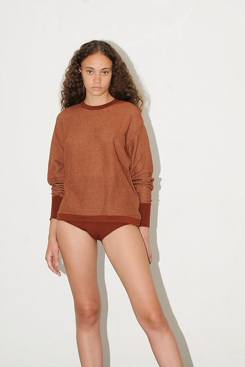 DIARTE - Omega pullover brick