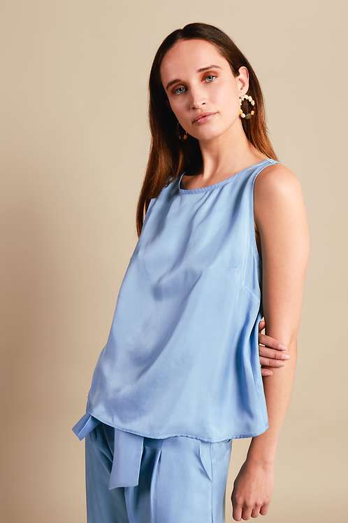 RHUMAA - Earth top blue
