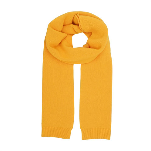 Colorful standard - merino scarf burned yellow