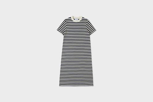 ROTHOLZ -  T-shirt dress navy/white striped