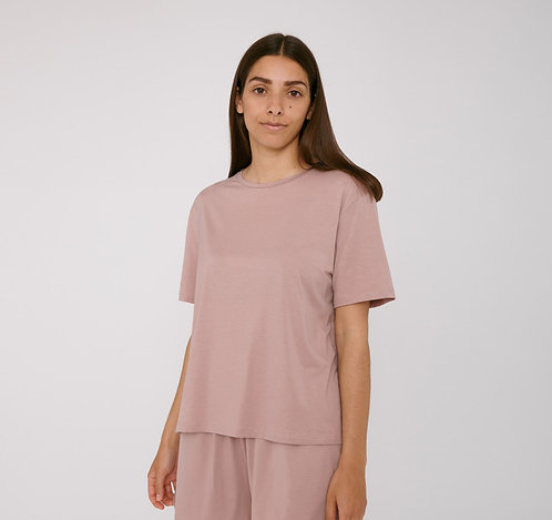 ORGANIC BASICS - tencel lite tee dusty rose