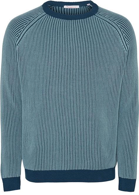 KCA -Valley striped knit moonlit ocean