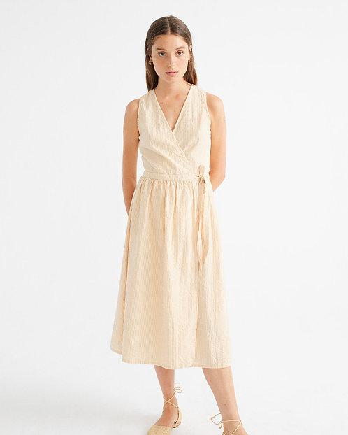 THINKING MU - Amapola dress seersucker