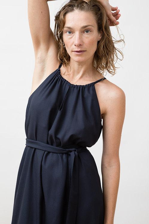 JUNGLE FOLK - Ella dress ecovero dark blue