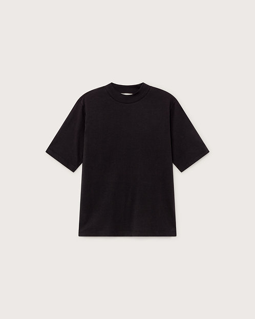THINKING MU - Basic mock t-shirt black