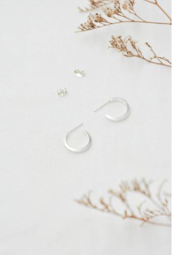 WILD FAWN - small hoop earrings silver