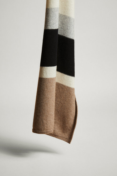LANIUS - scarf colorblock off white/grey