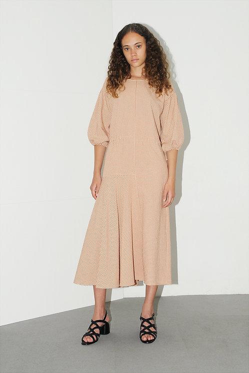 DIARTE - Camila dress gingham brown