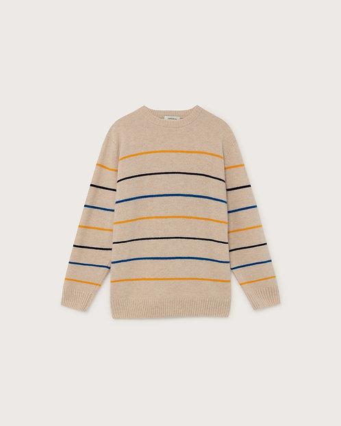 THINKING MU - Miki sweater shell striped