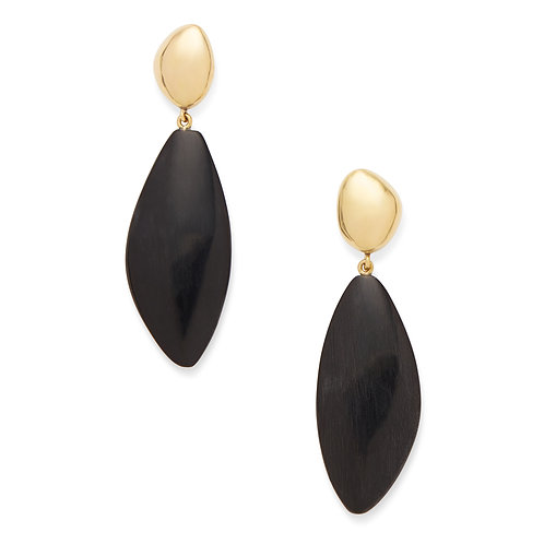 SOKO - Tulla horn drop earrings black