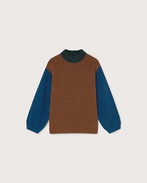 THINKING MU - Lada sweater  brown