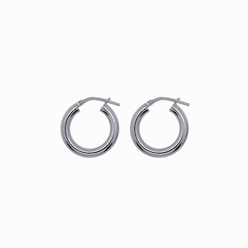 SISTER - chunky hoops small silver