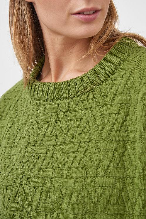 MILA.VERT - Triangle knit pullover green
