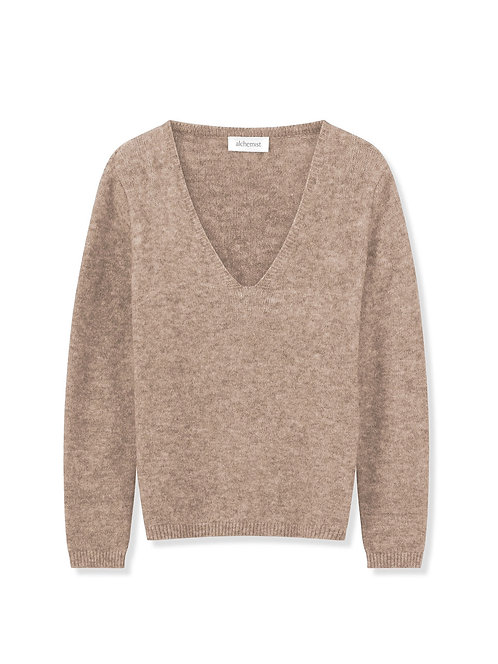 ALCHEMIST - Sweater Eben sand melange