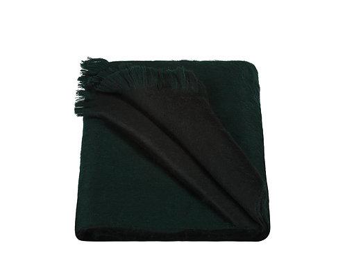 ALPACA LOCA - sjaal dubbel forest green/black