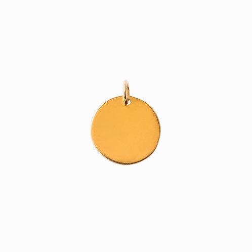 SISTER - Plain coin pendan gold