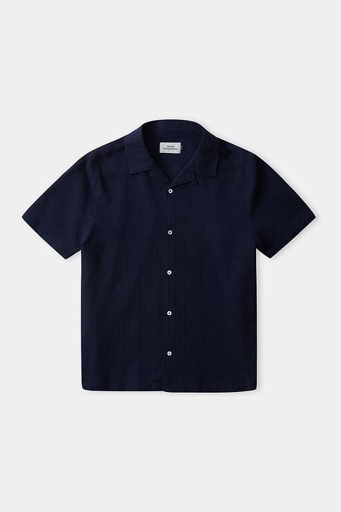ACO - Kuno SS shirt eco crepe navy