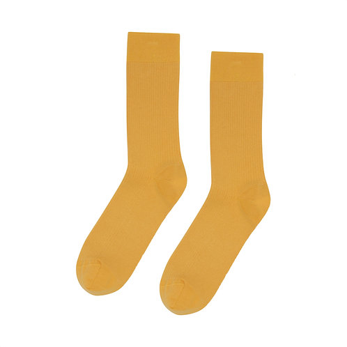 Colorful standard - organic socks burned yellow
