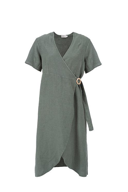 NÄZ - Alcacer wrap dress green