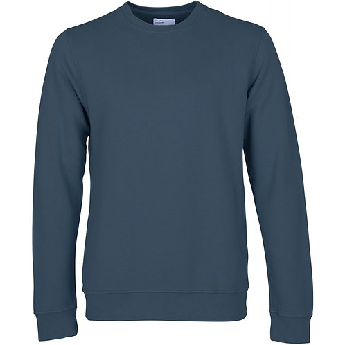 Colorful standard - classic organic crew sweat petrol blue