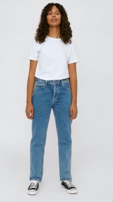 ORGANIC BASICS - circular denim 5 pocket jeans washed
