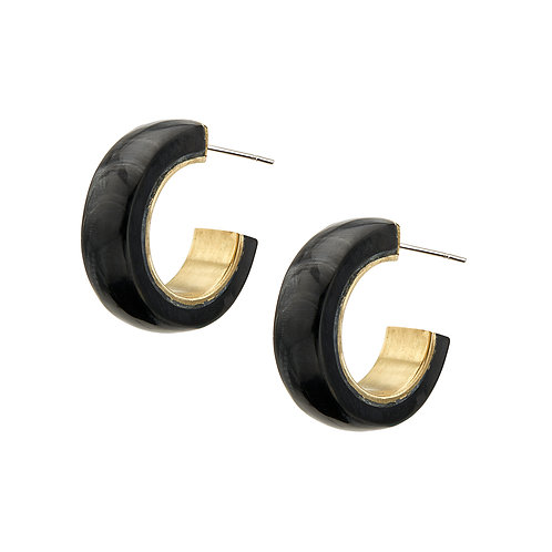 SOKO - Sana mini horn hoops black