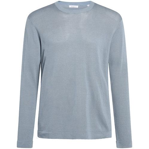 KCA - Forrest O-neck tencel knit asley blue