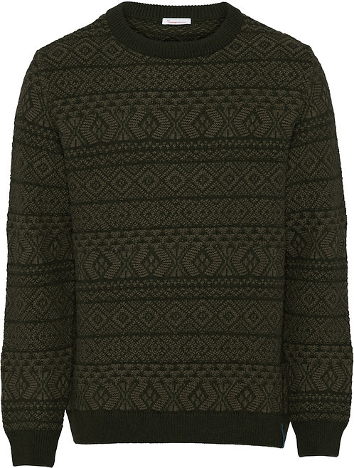 KCA - Valley color jacquard knit forest night