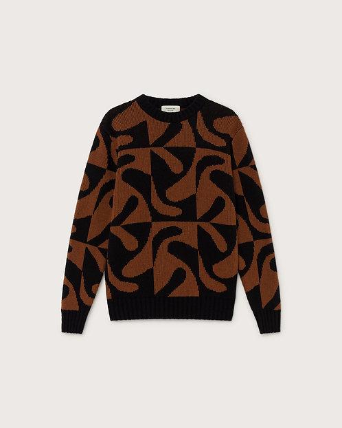 THINKING MU - Khem sweater zabawa brown