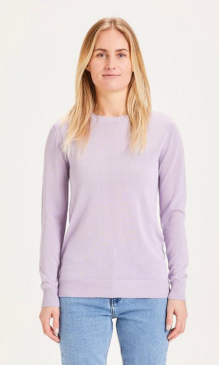 KCA - Myrthe basic crew tencel knit pastel lilac